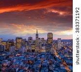 beautiful view of  business... | Shutterstock . vector #383371192