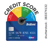 credit score chart or pie graph ... | Shutterstock .eps vector #383374132