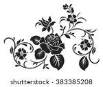 rose design elements vector. | Shutterstock .eps vector #383385208