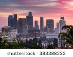 los angeles  california  usa... | Shutterstock . vector #383388232