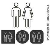 man and woman restroom     ...   Shutterstock .eps vector #383390416