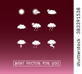 weather sign icons  vector... | Shutterstock .eps vector #383391538