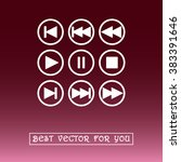 media player buttons sign icons ... | Shutterstock .eps vector #383391646