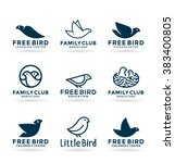 Set Of Various Bird Symbols And ...