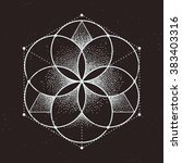 abstract sacred geometry.... | Shutterstock .eps vector #383403316