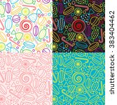 vector set of seamless patterns ... | Shutterstock .eps vector #383404462