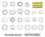 set of pop art comic speeches...   Shutterstock .eps vector #383404882