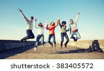 tourism  travel  people ... | Shutterstock . vector #383405572