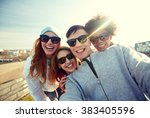 tourism  travel  people ... | Shutterstock . vector #383405596
