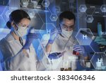 science  chemistry  biology ... | Shutterstock . vector #383406346