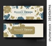 beautiful banner vector... | Shutterstock .eps vector #383406946
