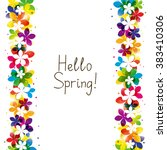 Spring Floral Border With Plac...