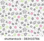 pattern color berry seamless... | Shutterstock .eps vector #383410786