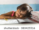 A Very Young Girl Student In...