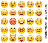 set of emoticons. set of emoji. ... | Shutterstock .eps vector #383425828