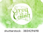 wake up. spring is coming... | Shutterstock . vector #383429698