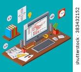 program coding  seo algorithm... | Shutterstock .eps vector #383432152