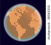 digital world vector. | Shutterstock .eps vector #38343310