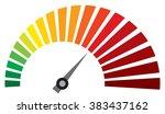 vector dashboard speedometer... | Shutterstock .eps vector #383437162