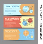 set of three flat designed for... | Shutterstock .eps vector #383437762