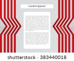presentation template with... | Shutterstock .eps vector #383440018