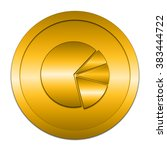 chart pie icon. internet button ...   Shutterstock . vector #383444722