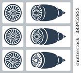 Aircraft Turbines Vector Icon...