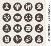 management icon set | Shutterstock .eps vector #383452972