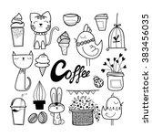 hand drawn decorative design... | Shutterstock .eps vector #383456035