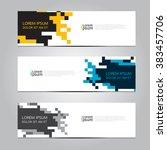 vector design banner background.... | Shutterstock .eps vector #383457706