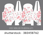 gift wedding favor box template ... | Shutterstock .eps vector #383458762