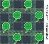 st patric day pattern. green... | Shutterstock .eps vector #383463412