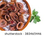 Stewed Squid With Rice Isolated