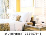 beautiful luxury decoration in... | Shutterstock . vector #383467945