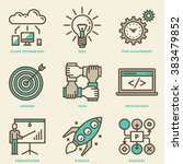 modern startup business mono... | Shutterstock .eps vector #383479852