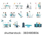 medical staff and patients... | Shutterstock .eps vector #383480806