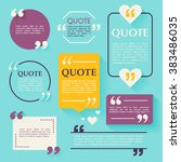 quote blank template. design... | Shutterstock .eps vector #383486035