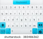 beautiful modern keyboard of...