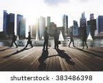 business people working working ... | Shutterstock . vector #383486398