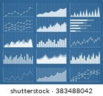 business graphics and charts... | Shutterstock .eps vector #383488042