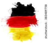 grunge map of germany with... | Shutterstock .eps vector #383489758