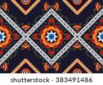 geometric ethnic oriental... | Shutterstock .eps vector #383491486