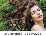 spring  summer  beauty ... | Shutterstock . vector #383492386
