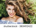 spring  summer  beauty ... | Shutterstock . vector #383492422