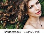 spring  summer  beauty ... | Shutterstock . vector #383492446