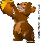 Bear And A Large Pot Of Honey ...