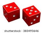 pair of dice   easy eight ... | Shutterstock . vector #383493646