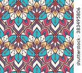 seamless pattern. vintage... | Shutterstock .eps vector #383495806