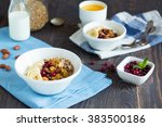 homemade organic granola...   Shutterstock . vector #383500186