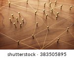 linking entities. network ... | Shutterstock . vector #383505895
